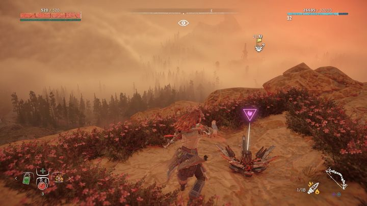 From the nearest campfire go to the mountain chain - Metal Flowers | Collectibles - Collections - Horizon Zero Dawn Game Guide