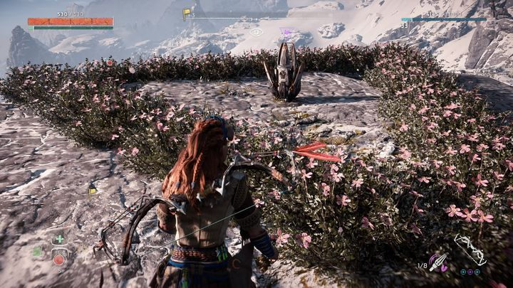 The flower can be found on the rocky hill near Stormbirds nest - Metal Flowers | Collectibles - Collections - Horizon Zero Dawn Game Guide