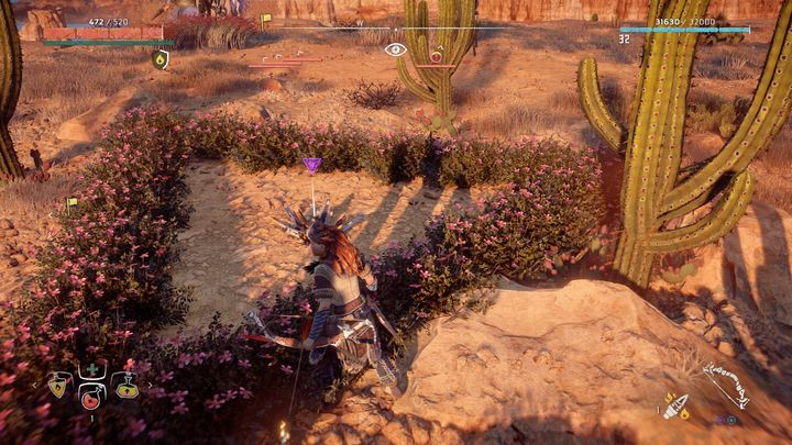 Travel to the campfire closest to Dimmed Bones ruins - Metal Flowers | Collectibles - Collections - Horizon Zero Dawn Game Guide