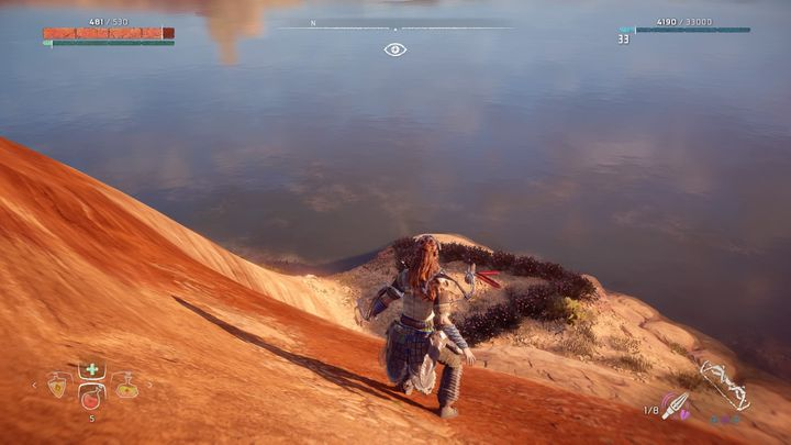 Here, the marker is very precise in pointing the flowers location - Metal Flowers | Collectibles - Collections - Horizon Zero Dawn Game Guide
