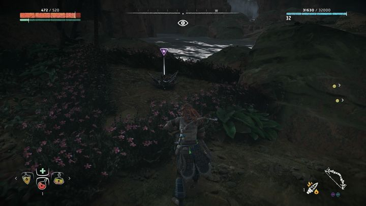 The flower is in the center of Bellowbacks nest - Metal Flowers | Collectibles - Collections - Horizon Zero Dawn Game Guide