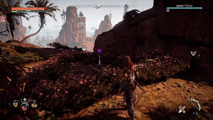 The flower is on a high rock - Metal Flowers | Collectibles - Collections - Horizon Zero Dawn Game Guide