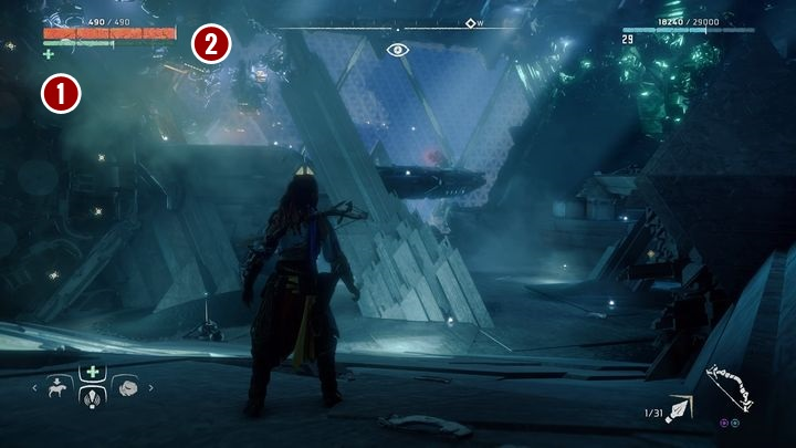 Next, go to the platform on the left from the entrance - Cauldron RHO | Cauldrons - Cauldrons - Horizon Zero Dawn Game Guide