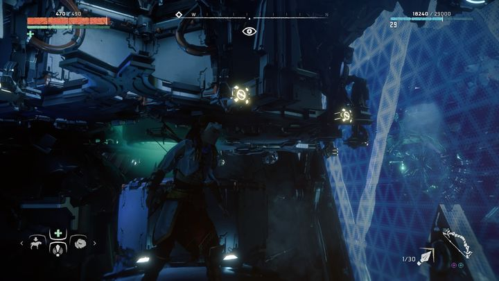 In order to do that you must go back to the first turbine in the room - Cauldron RHO | Cauldrons - Cauldrons - Horizon Zero Dawn Game Guide