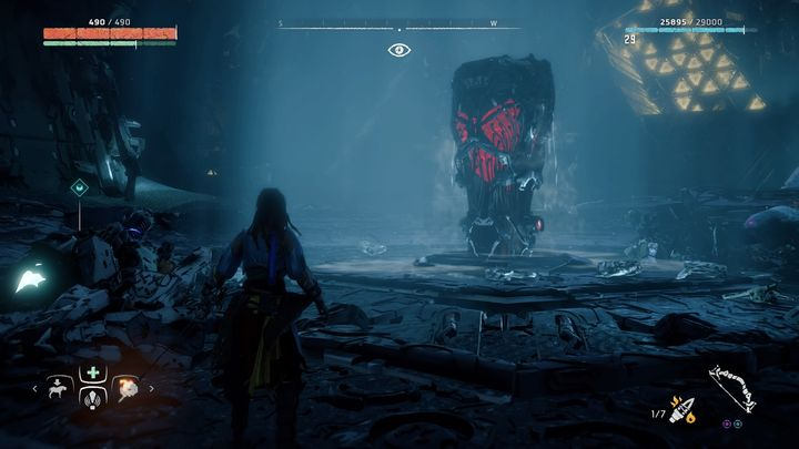 After the fight you can override the Core and go back to the surface - Cauldron RHO | Cauldrons - Cauldrons - Horizon Zero Dawn Game Guide