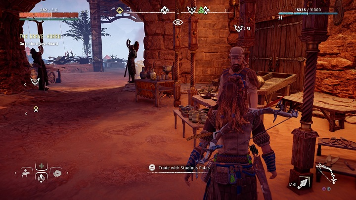 On Meridians map you can find merchant icons that have one difference when compared to the regular ones - What should I do with special treasures in Horizon Zero Dawn? - FAQ - Horizon Zero Dawn Game Guide