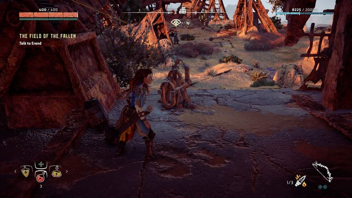 After that, use Focus to investigate the place where the real ambush happened - The Field of the Fallen | Walkthrough - Main Missions | Walkthrough - Horizon Zero Dawn Game Guide
