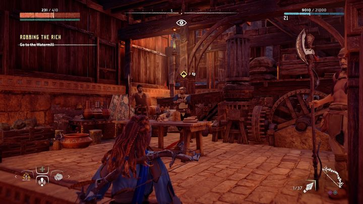 When you get there, speak with Kindiv - Robbing the Rich | Meridian side quests - Meridian - Horizon Zero Dawn Game Guide