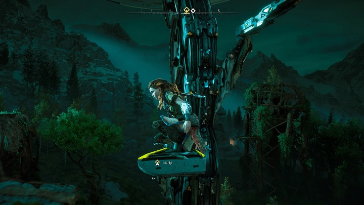The first Tallneck can be encountered near the ruins in Devils Thirst - How to override tallnecks in Horizon Zero Dawn? - Additional activities - Horizon Zero Dawn Game Guide