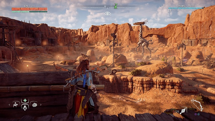 The Tallneck in this region walks inside the bandits camp - How to override tallnecks in Horizon Zero Dawn? - Additional activities - Horizon Zero Dawn Game Guide