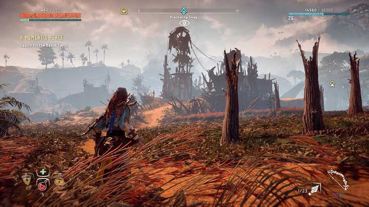 Here, the camps entrance is not very well guarded and if you approach from Meridians side then you can easily take over the bridge connecting two parts of the camp - How to clear bandits camps in Horizon Zero Dawn? - Additional activities - Horizon Zero Dawn Game Guide