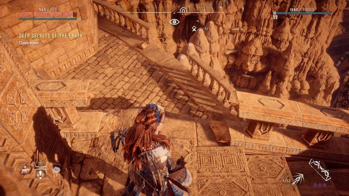 Join the group of bounty hunters and follow them - Deep Secrets of the Earth | Walkthrough - Main Missions | Walkthrough - Horizon Zero Dawn Game Guide