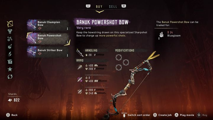 If you want to buy a legendary equipment offered by Banuk merchants, you need to get a certain amount of Bluegleam - What is Bluegleam in Horizon Zero Dawn: The Frozen Wilds? - FAQ - Horizon Zero Dawn Game Guide
