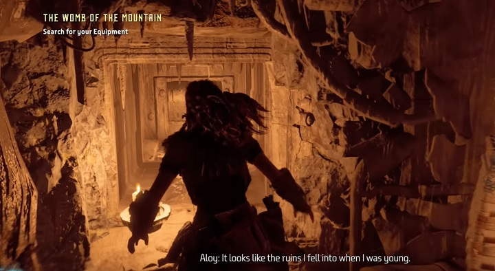 The cell is in one of the side corridors inside the mountain - The Ancient Armory - side quest | World side quests - The world - Horizon Zero Dawn Game Guide