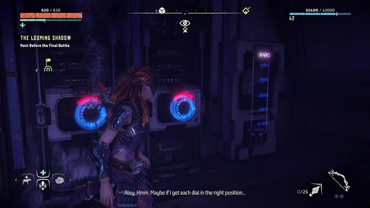 Once the panel is prepared, interact with the ciphering machine - The Ancient Armory - side quest | World side quests - The world - Horizon Zero Dawn Game Guide