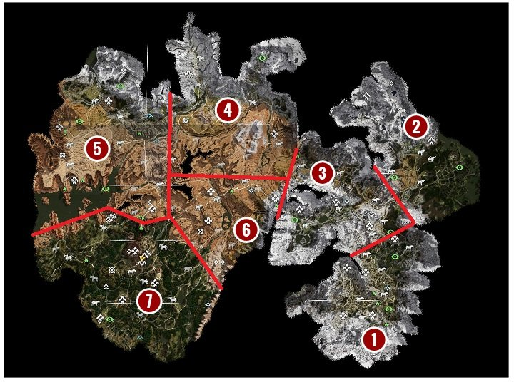 Horizon Zero Dawn World Map   description and characteristics