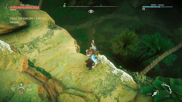 You can find Nil in the place pointed by the quest marker - Cause for Concern - Farewell | World side quests - The world - Horizon Zero Dawn Game Guide