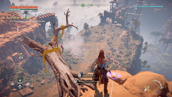 When you are near the campfire on the Meridian outskirts, go north - Vantages | Collectibles - Collections - Horizon Zero Dawn Game Guide