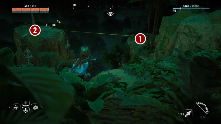 In this case, follow the figure marker and choose one of the campfires on the massif - Banuk Figures | Collectibles - Collections - Horizon Zero Dawn Game Guide