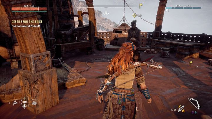 The quest ends when the fight is over - Death from the Skies - side quest | World side quests - The world - Horizon Zero Dawn Game Guide