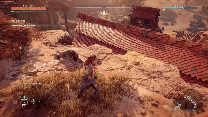 After that go to one of the cultist bodies (it wasnt the leader) and take the prison cell key that he had with him - Collateral - errand | World side quests - The world - Horizon Zero Dawn Game Guide