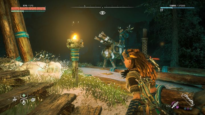 One of the dummies can be found next to the campfire which is near the villages main gate - Where can I find Grazer dummies in Horizon Zero Dawn? - FAQ - Horizon Zero Dawn Game Guide