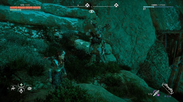 One dummy is on the left from the campfire - Where can I find Grazer dummies in Horizon Zero Dawn? - FAQ - Horizon Zero Dawn Game Guide