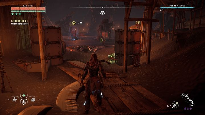 Then you will participate in a short walk to the chamber of the Core of the Cauldron - Cauldron XI | Cauldrons - Cauldrons - Horizon Zero Dawn Game Guide