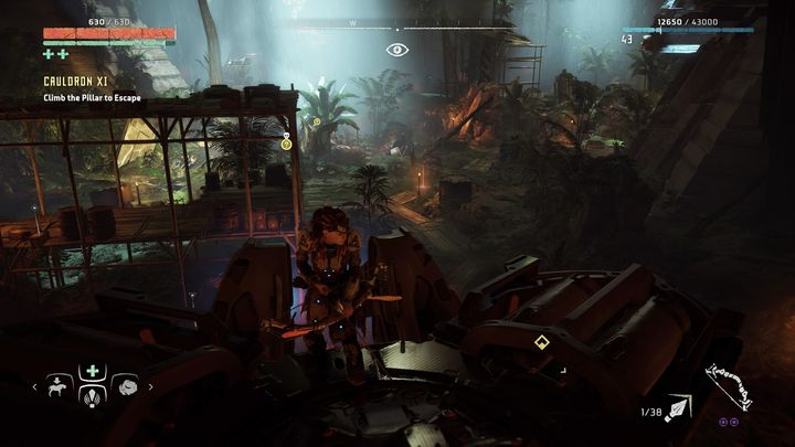 In the underground cave you will find more Stalkers - Cauldron XI | Cauldrons - Cauldrons - Horizon Zero Dawn Game Guide
