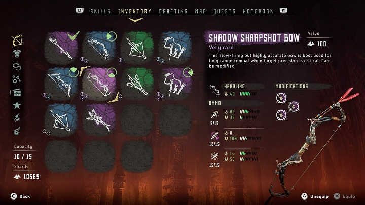 The equipment has no restrictions when it comes to Aloys stats. You can use everything that you find. - Equipment | Gameplay mechanics - Gameplay mechanics - Horizon Zero Dawn Game Guide