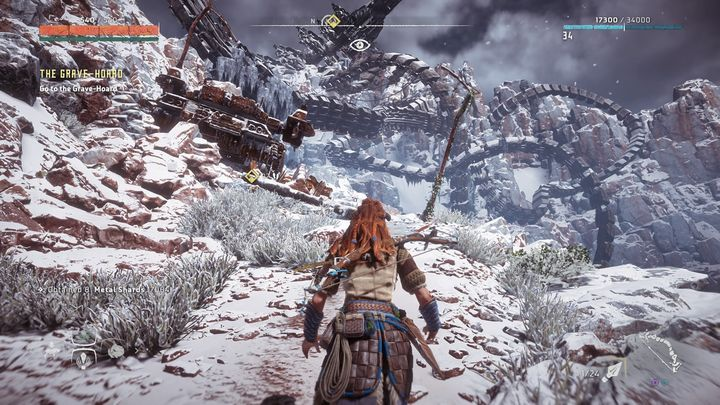 On your way to your destination, you will come across a group of cultists and some corrupted machines - The Grave-Hoard | Walkthrough - Main Missions | Walkthrough - Horizon Zero Dawn Game Guide