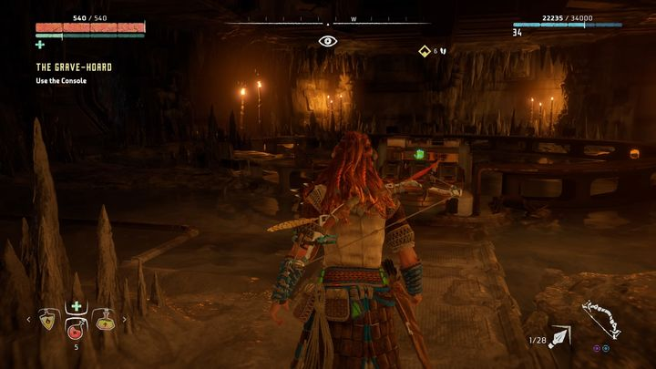 On your way, you can play many notes but eventually you will reach the room presented in the screenshot - The Grave-Hoard | Walkthrough - Main Missions | Walkthrough - Horizon Zero Dawn Game Guide