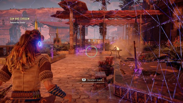 First go to the garden, in which Lahaviss daughter was spotted for the last time - Sun and Shadow | Brightmarket side quests - Brightmarket - Horizon Zero Dawn Game Guide