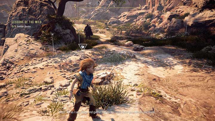 Youll reach a dried riverbed - Lessons of the Wild | Walkthrough - Main Missions | Walkthrough - Horizon Zero Dawn Game Guide