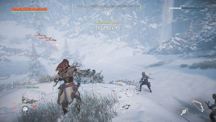 The quest begins with a short cut-scene that leads directly to the trial itself - The Proving | Walkthrough - Main Missions | Walkthrough - Horizon Zero Dawn Game Guide