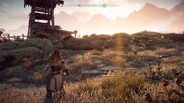 The trail ends in the area shown on the screenshot above - In Her Mothers Footsteps | Embrace side quests - Embrace - Horizon Zero Dawn Game Guide