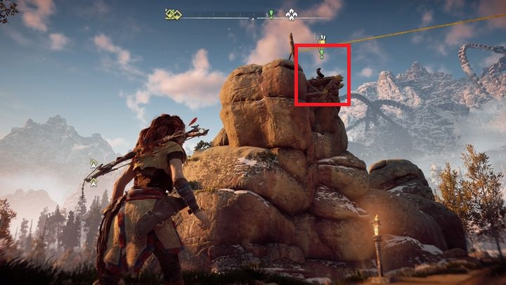 Your first objective is to search the camp used by Brom - The Forgotten | Embrace side quests - Embrace - Horizon Zero Dawn Game Guide