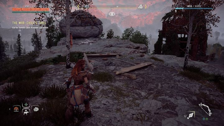 When you get there, you must examine the trails that can be easily noticed by using Focus - The War Chiefs Trail | Walkthrough - Main Missions | Walkthrough - Horizon Zero Dawn Game Guide