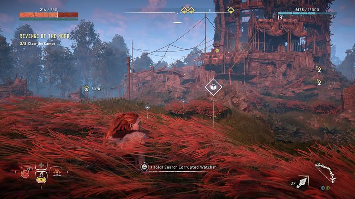After a short cut-scene, the missions goal will change - Revenge of the Nora | Walkthrough - Main Missions | Walkthrough - Horizon Zero Dawn Game Guide