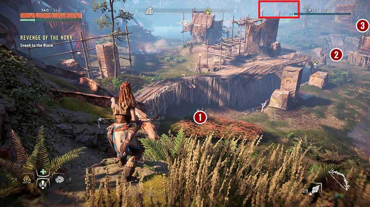 When you get to the checkpoint it turns out that Aloy discovers the weak point of the entire structure - Revenge of the Nora | Walkthrough - Main Missions | Walkthrough - Horizon Zero Dawn Game Guide