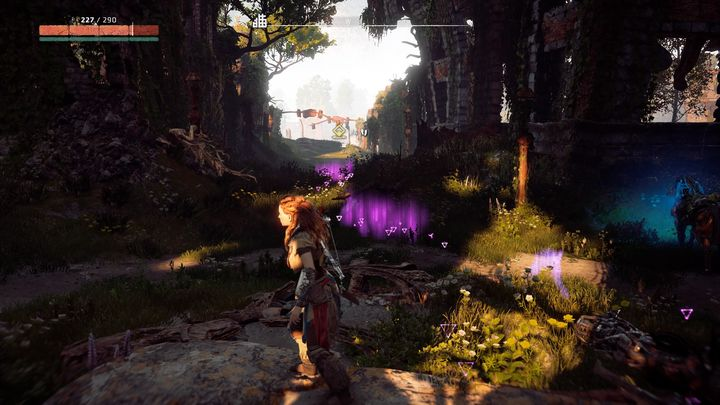 Follow the marker and, very quickly, you can find damaged machines laying on the ground - Sanctuary | Mothers Crown side quests - Mothers Crown - Horizon Zero Dawn Game Guide