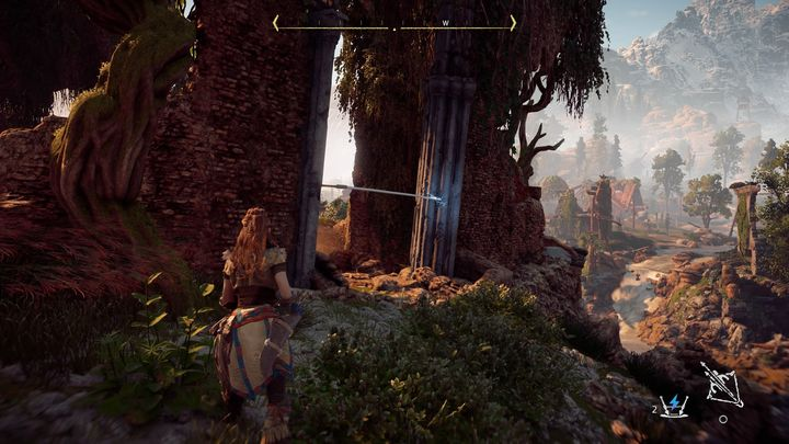 Although here you must face two enemies, the rules are the same as with the Sawtooth during one of the main missions - Sanctuary | Mothers Crown side quests - Mothers Crown - Horizon Zero Dawn Game Guide