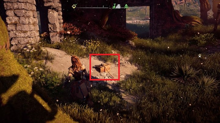 After the fight, check the box showed on the picture - Sanctuary | Mothers Crown side quests - Mothers Crown - Horizon Zero Dawn Game Guide