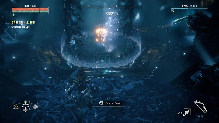 After that the game is saved and you must face Fire Bellowback - Cauldron SIGMA | Mothers Crown side quests - Cauldrons - Horizon Zero Dawn Game Guide