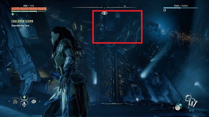 Around the force field there are four pylons that generates it - Cauldron SIGMA | Mothers Crown side quests - Cauldrons - Horizon Zero Dawn Game Guide