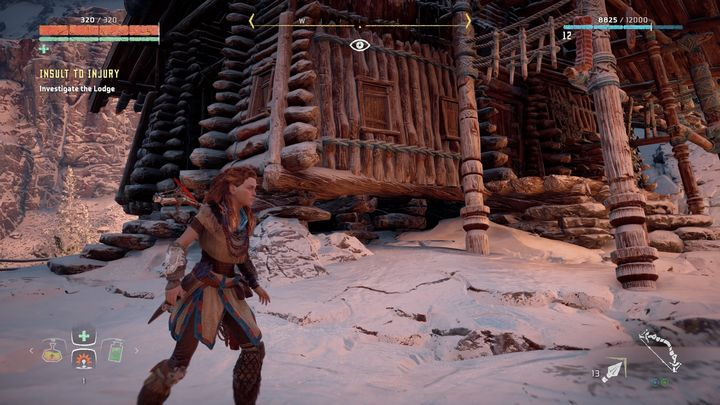 When you get there you discover that Jun is stuck in his hut - Insult to Injury | Embrace side quests - Embrace - Horizon Zero Dawn Game Guide