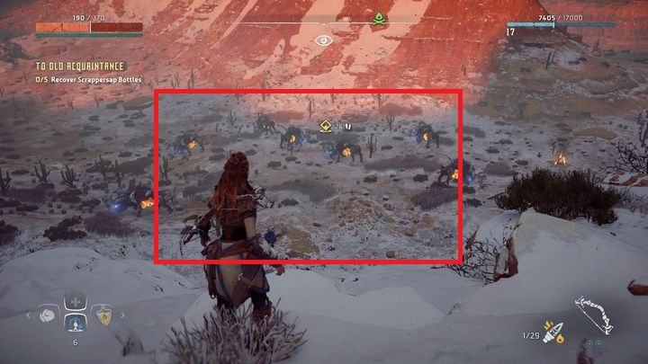 The next stage is to recover five bottles of beverage for Kendert - To Old Acquaintance | Hunters Gathering side quests - Hunters Gathering - Horizon Zero Dawn Game Guide