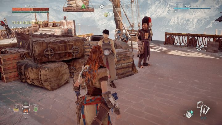 When you get five bottles, return to Kendert - To Old Acquaintance | Hunters Gathering side quests - Hunters Gathering - Horizon Zero Dawn Game Guide