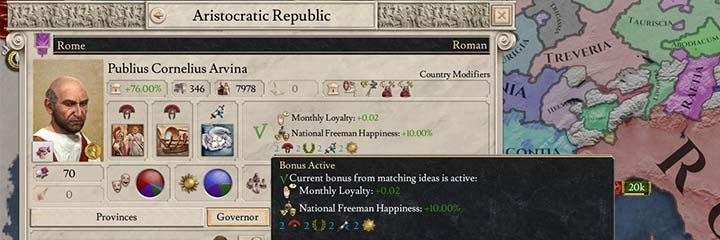 If you match all national ideas, you will receive a special bonus. - National Ideas in Imperator Rome - Government - Imperator Rome Guide