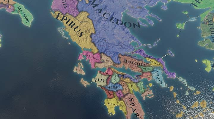 Macedon is not as strong as it was after the fall of Alexander the Great - Macedonia nation - how to play in Imperator Rome? - Nations - Imperator Rome Guide